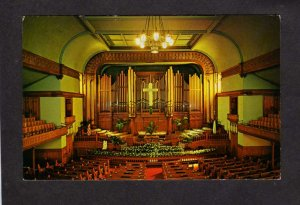 CO Altar Sanctuary Trinity Methodist Church Denver Colorado Postcard Religious