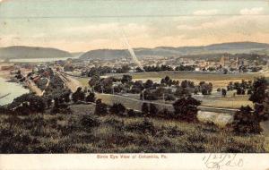 Columbia Pennsylvania Birdseye View Of City Antique Postcard K50062