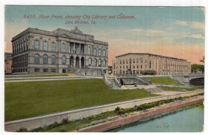 Des Moines, Ia, River Front, showing City Library and Coliseum