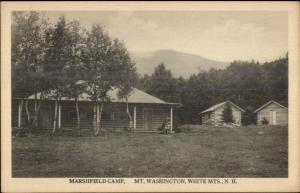 Mt. Washington White Mountains Nh Marshfield Camp c1920s Postcard