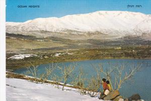 Winter Scene, Brechat Ram, Mt. Hermon, Local Children, GOLAN HEIGHTS, Syria, ...