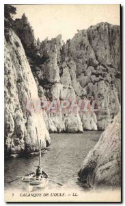 Old Postcard Calanque Oule Boat