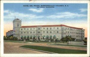 Barranquilla Colombia Hotel Del Prado Linen Postcard