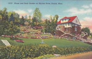 Minnesota Duluth House And Rock Garden On Skyline Drive