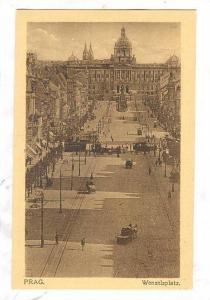 Prag Czech Republic , 1900-10s ; Wenzelplatz