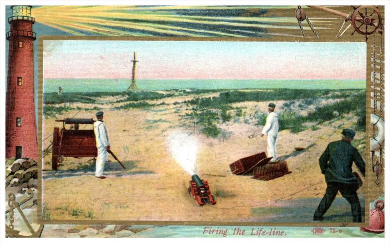 Lighthouse  Coast Guard  series   -  Firing the Life Line