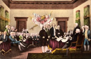 The Signing Of The Declaration Of Independence Of The United States Of Americ...