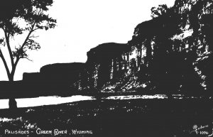 Wyoming Green River The Palisades 1955 Real Photo