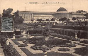 Belgium Bruxelles Jardin Italien Botanic Garden Statues Postcard