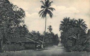 Sierra Leone A Village Street Postcard