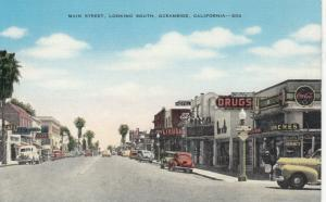 OCEANSIDE , California , 30-40s ; Main Street , Looking South