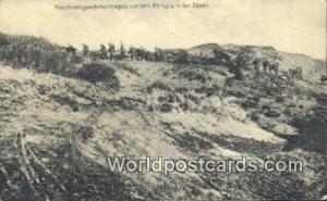 Marsche in den Dunen Germany, Deutschland Postcard Maschinengewehrkompagnie a...
