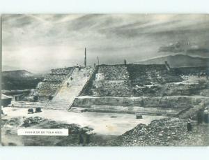 Pre-1950 rppc PIRAMIDE DE TULA HIDALGO Tula De Allende - Hidalgo Mexico i3658