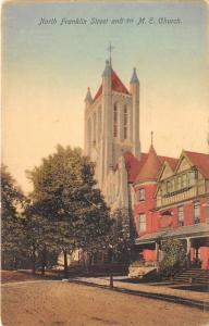 Wilkes-Barre PA~North Franklin Street~1st ME Church~House~1908 Jonas Longs Pc