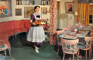 Postcard The Glockenspiel Restaurant Fleetwood PA Waitress Chrome Unused A1