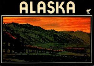 Alaska Sunset Over The World Famous Alaska Pipeline