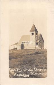 A54/ Harmony Maine Me RPPC Real Photo Postcard c1910 Cobb Memorial Church