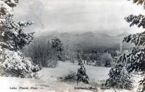 Postcard New York Lake Placid Club Sentinels From Maples Winter Snow B15