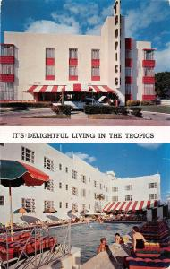 USA Florida Hotel It's Delightful Living in the Tropics Facing the Ocean 1955