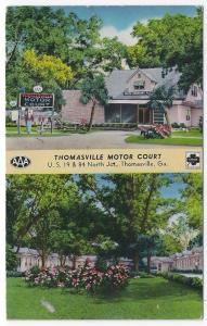 Thomasville, Georgia, Views of Thomasville Motor Court, 1956