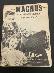 Magnus Accordion Method & Song Folio Paper Fold-out Booklet