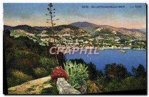 Old Postcard Villefranche Sur Mer La Rade