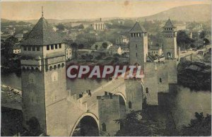 Old Postcard Cahors Bridge Valentre