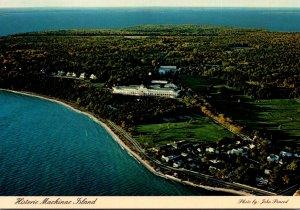 Michigan Historic Mackinac Island Aerial View