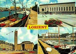 France Lorient Morbihan Port de Peche Hotel de Ville Eglise Port Postcard