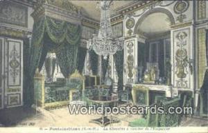 Fontainebleau, France, Carte, Postcard La Chambre a coucher de I'Empereur Fon...