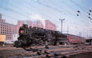PENNSYLVANIA 830 K4 PACIFIC ~JERSEY CITY NJ~RAILROAD POSTCARD