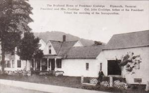 Boyhood Home Of President Coolidge Plymouth Vermont Real Photo