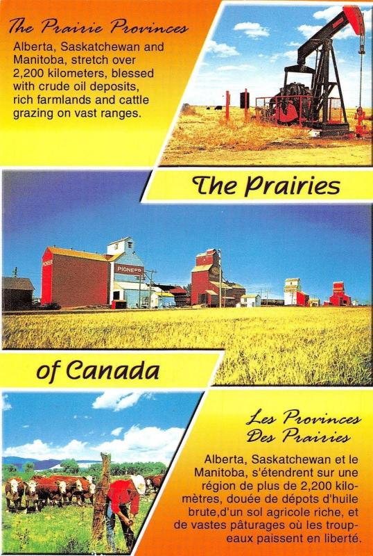Canada The Prairies multiviews Alberta Saskatchewan and Manitoba