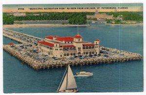 St. Petersburg, Florida, Municipal Recreation Pier As Seen From Airliner