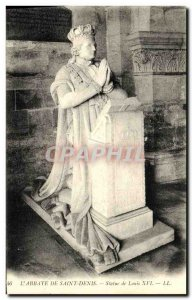 Old Postcard L Abbaye Saint Denis Statue of Louis XVI