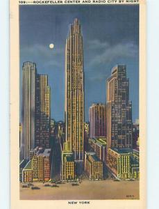 Unused Linen ROCKEFELLER CENTER New York City NY HM9549