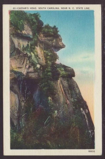 Caesar's Head,SC Postcard