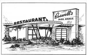 Paducah Kentucky Boswells Park Avenue Restaurant Antique Postcard K88363