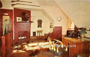 Old Vintage Hunting Postcard Post Card Sagamore Hill, The Gun Room Oyster Bay...