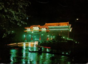 Taiwan Taipei City Grand Hotel At Night 1978