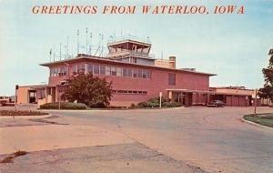 Waterloo Iowa & Cedar Falls Municipal Airport~Control Tower~1970s Postcard