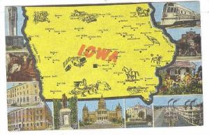 Map of Iowa and surrounding mounments, Iowa, 1930-1940s