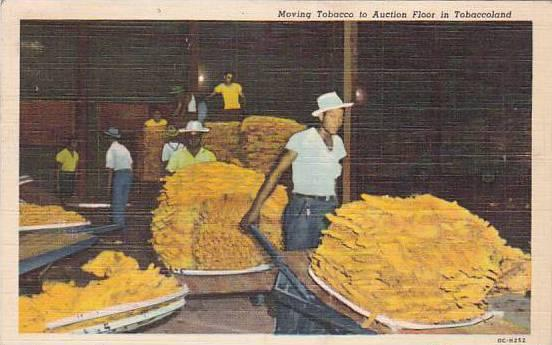 Moving Tobacco to Auction Floor in Tobaccoland