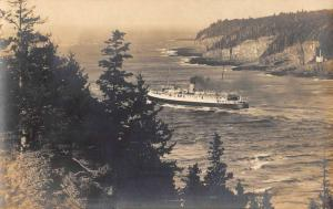 Digby Nova Scotia Steamer Yacht Real Photo Antique Postcard K81107