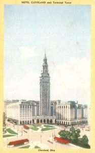 Ohio Cleveland Hotel Cleveland and Terminal Tower Dexter Press