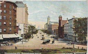 Washington DC Pennsylvania Avenue From Treasury 1911