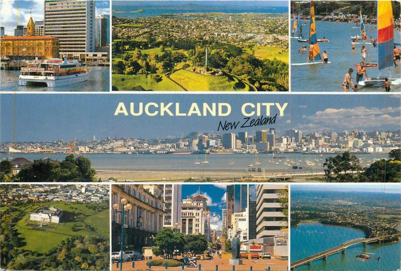 New Zealand Auckland City butterfly stamp