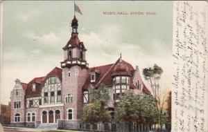 Ohio Akron Music Hall 1908