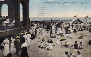 New Jersey Atlantic City A Bright Sunny Day On The Beach 1911