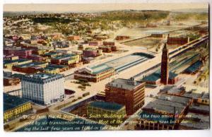 L.C.Smith Bldg. & 2 Union Stations, Seattle WA
